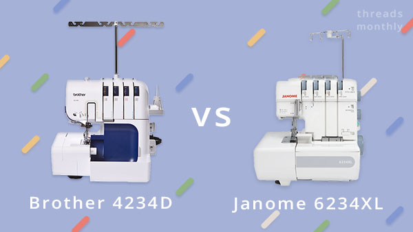 brother 4234d compared to janome 6234xl
