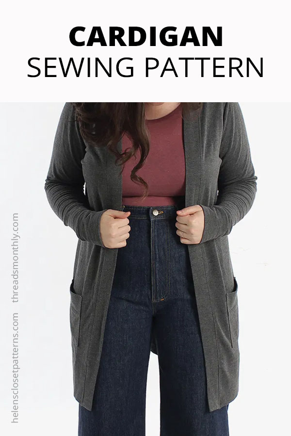 cardigan sewing pattern. Blackwood by helens closet.