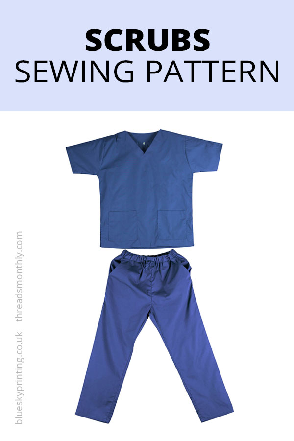 scrubs sewing pattern UK