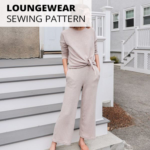 sewing patterns: sweater and wide leg knit pants / trousers. como pants by style arc and jarrah sweater by megan nielsen.