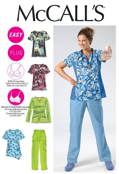 Mccalls m6473 scrubs sewing pattern UK