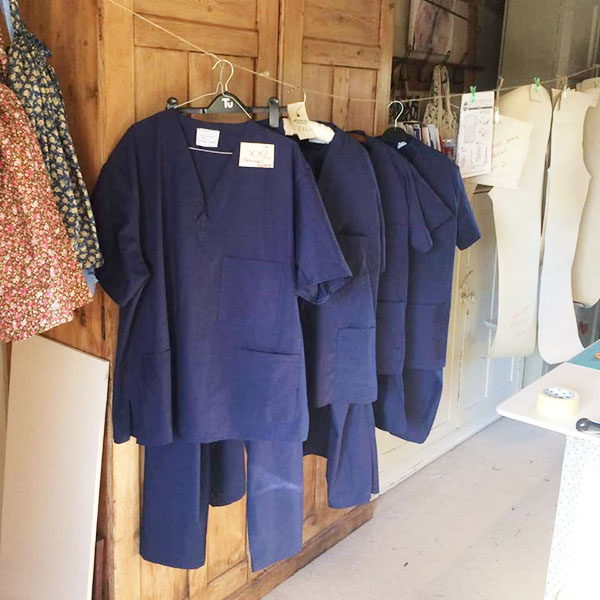 navy scrubs tops and pants for NHS