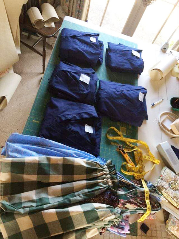 Labelled scrubs donation for NHS