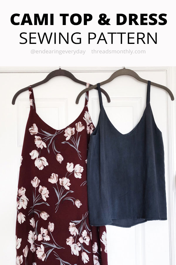 camisole sewing pattern top. ogden cami by true bias.