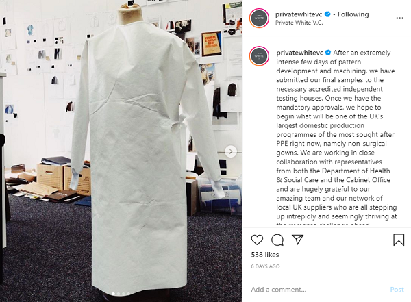 non-surgical gown prototype