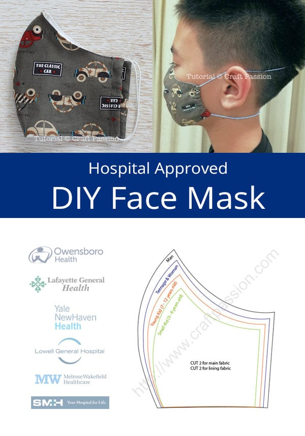 41 Printable Olson Pleated Face Mask