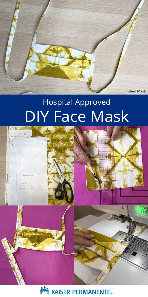 free pleated surgical face mask sewing pattern by kaiser permanente