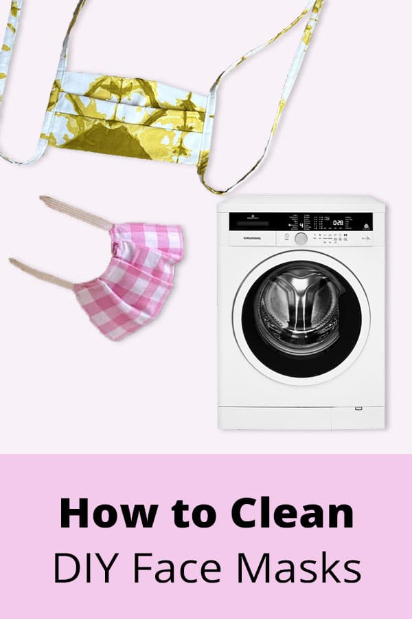 how to clean washable fabric face masks