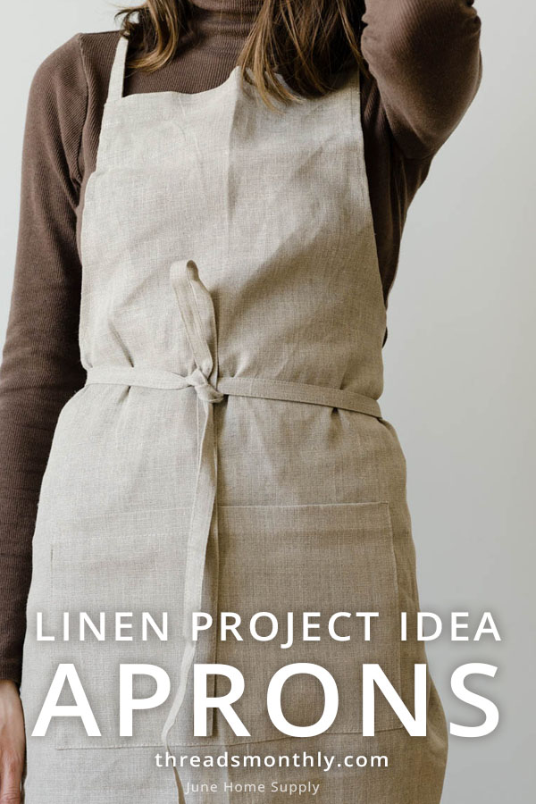 linen sewing project idea: cream apron