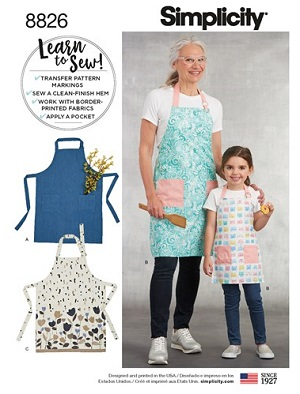 easy apron sewing pattern by simplicity 8826