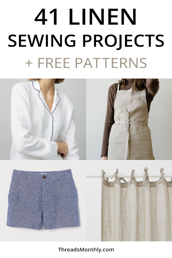 41 linen sewing projects and free patterns