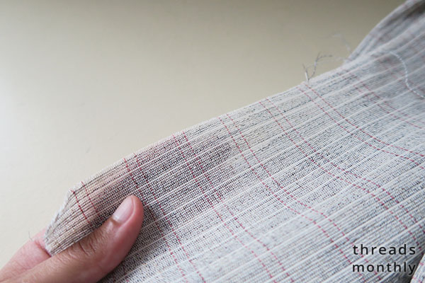 woven sew-in interfacing hair canvas
