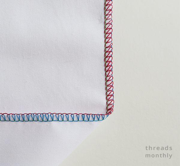 3 thread wide overlock serger stitch