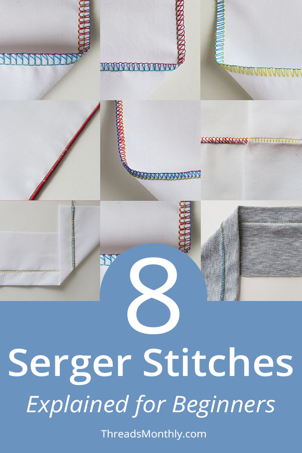 8 Serger / Overlocker Stitches Explained Simply (+ Photos)
