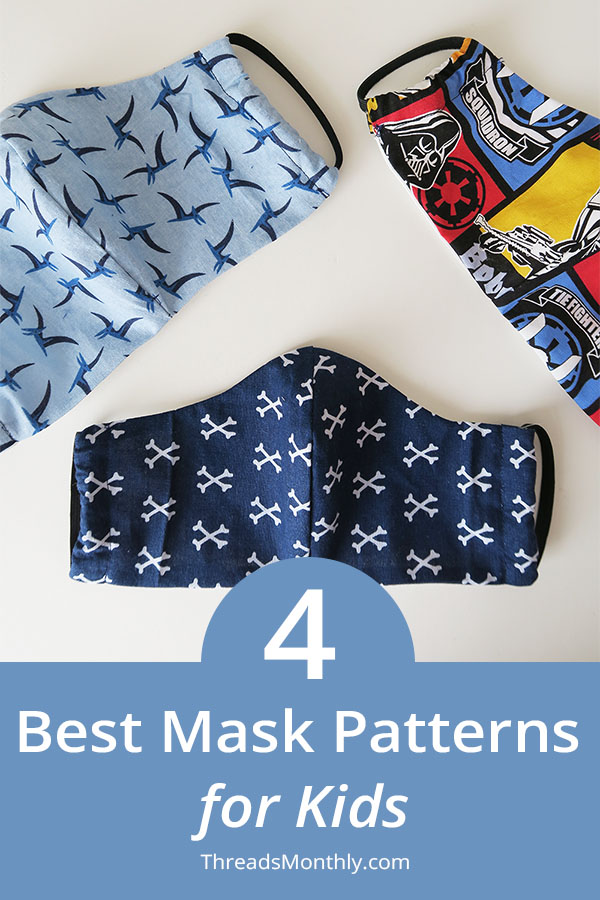 4 BEST Toddler & Child Face Mask Patterns + Measurements
