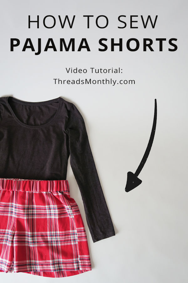 how to sew pajama shorts