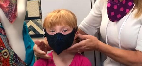 jesse mask worn by child