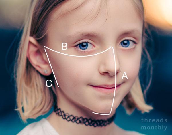 childs mask measurements