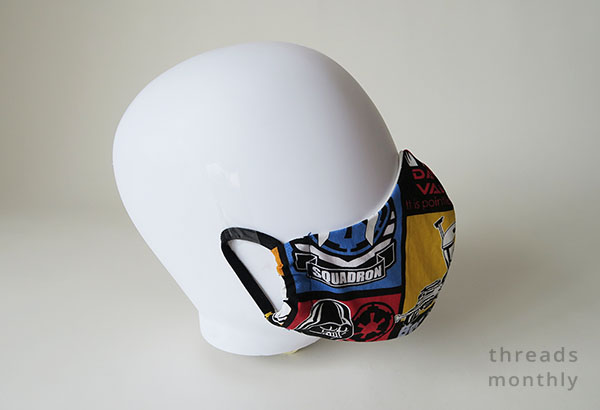 olson face mask by Craft Passion made in Star Wars fabric