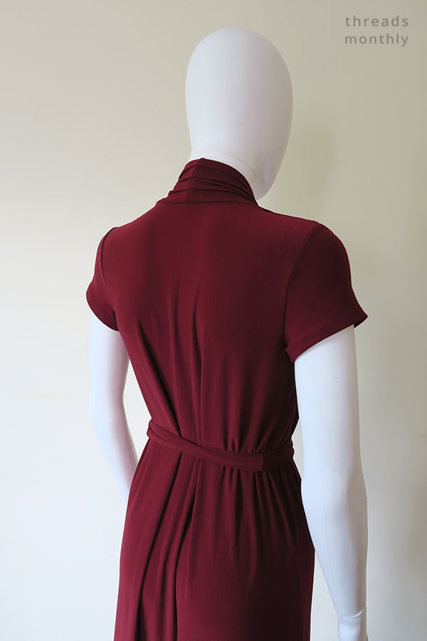 back view of red Nina Lee Mayfair dress worn by mannequin