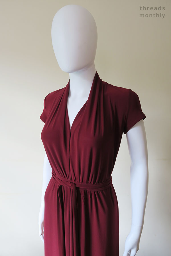 top half of Nina Lee Mayfair dress worn by mannequin