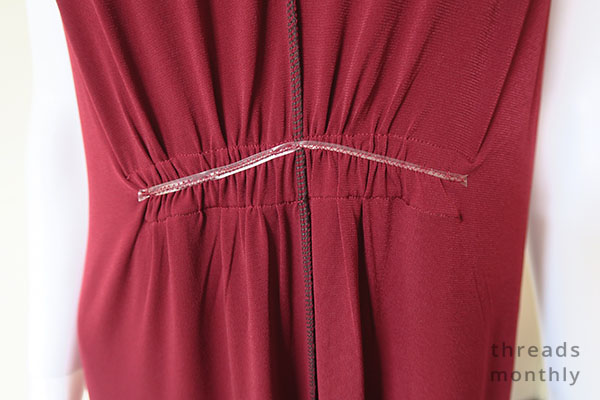 elastic inside the Nina Lee Mayfair dress
