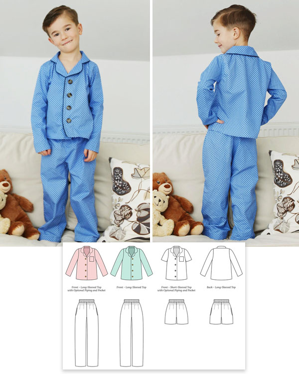 button-up pajamas worn by boy