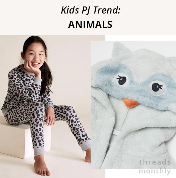 animal print kids pajamas