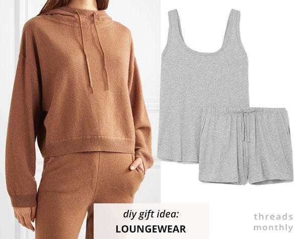 brown sweatpants and grey pajama set