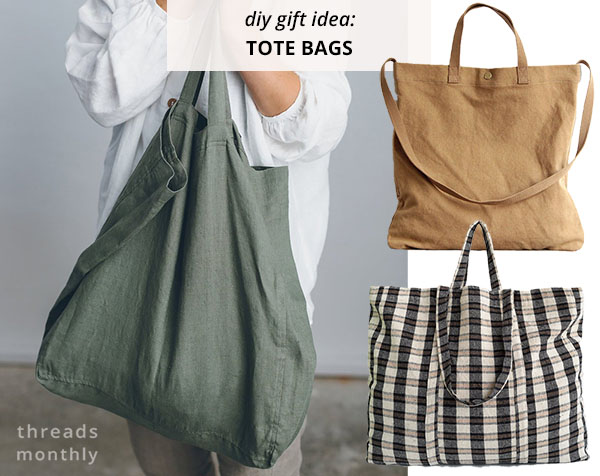 3 tote bags in khaki green, sand, and check print