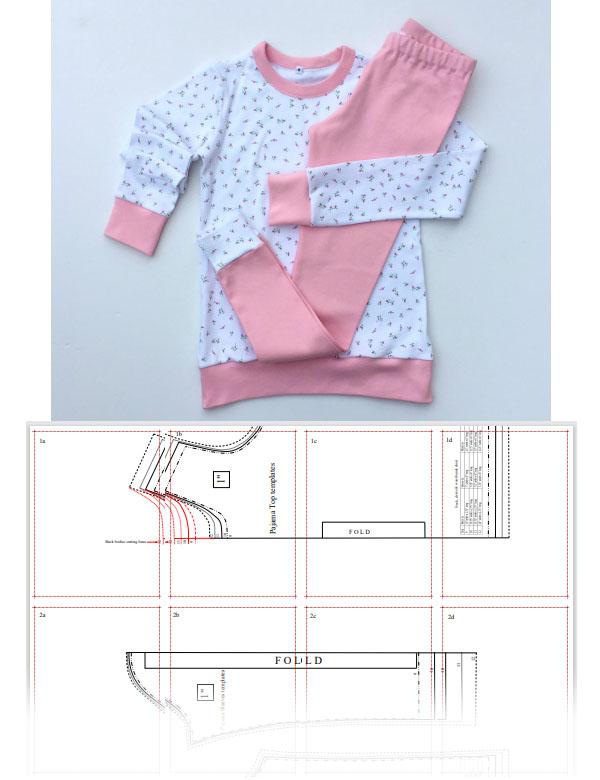 free knit pajamas sewing pattern