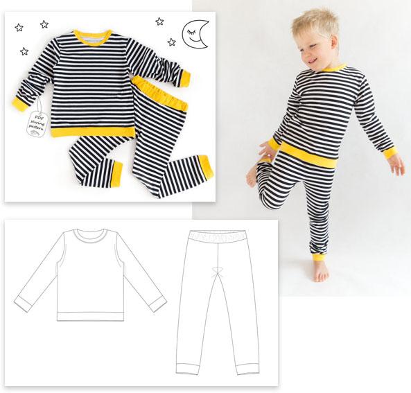 stripe pajama sewing pattern