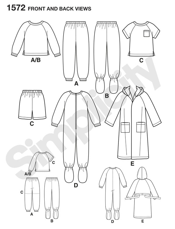 pattern for kids pajamas and onesies