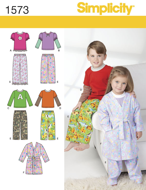 pajama set worn by girl and boy