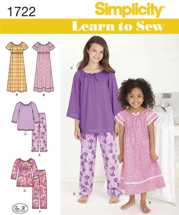 nightgown pajama pattern for girls