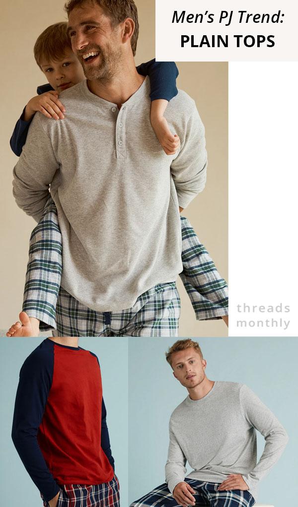 men's pajama tops