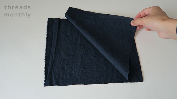 placing fabric ontop of each other