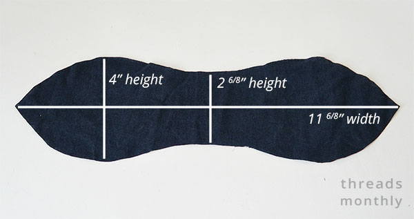 scrunchie bunny ear bow measurements