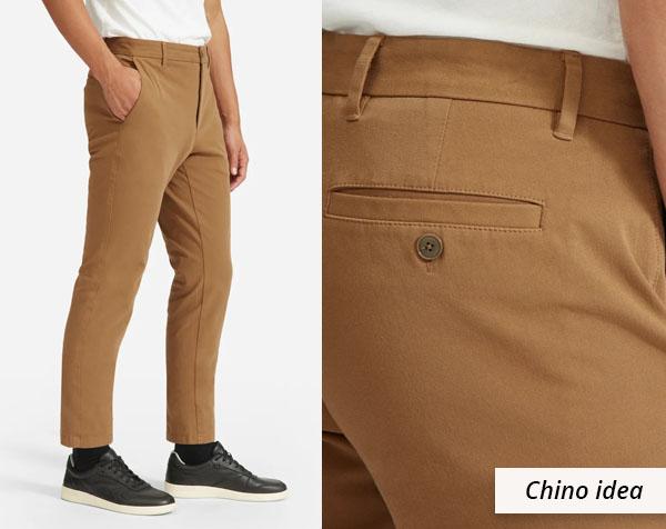 ochre yellow chino pants