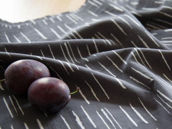 black and white cotton cambric fabric