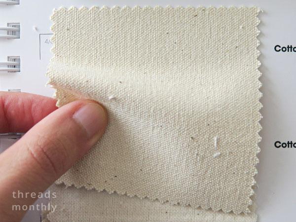 cream cotton canvas fabric sample