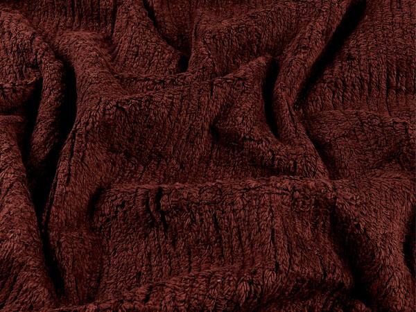 brown cotton chenille fabric