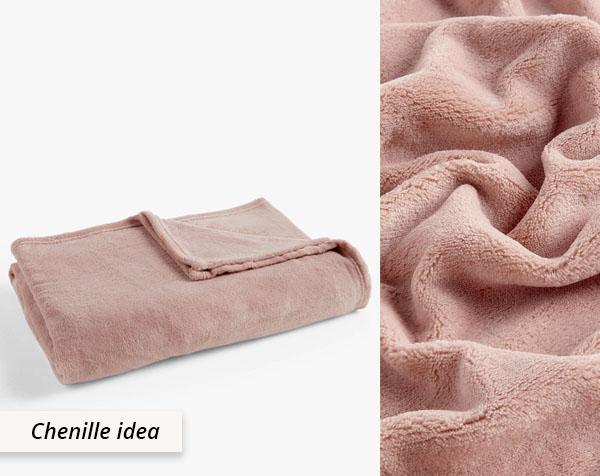 pink fluffy blanket