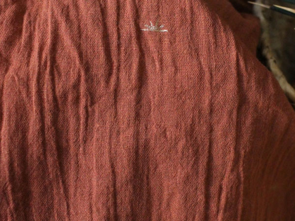 dark orange cotton crepe fabric
