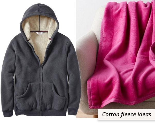 grey fleece jacket and pink fleece blanket