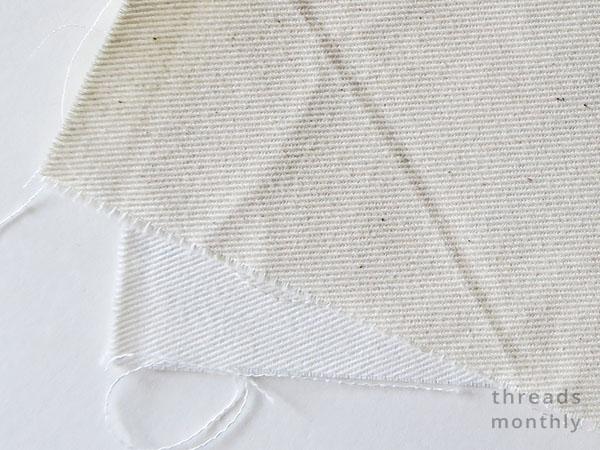 cream and white cotton twill fabric
