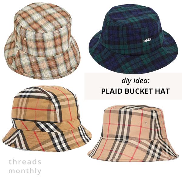plaid bucket hats