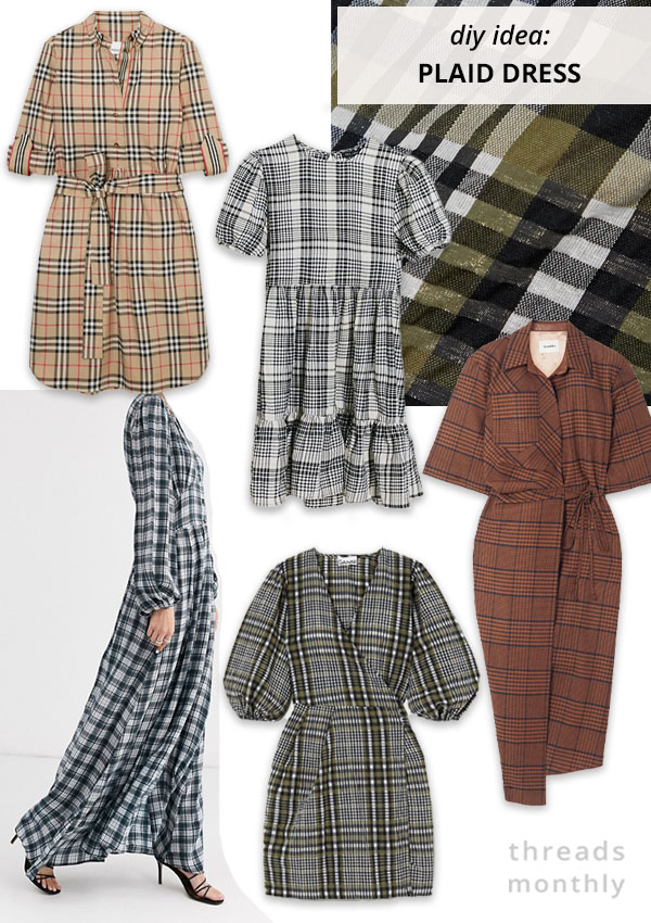 plaid, tartan and check dresses