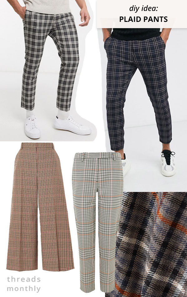 plaid pants and trousers