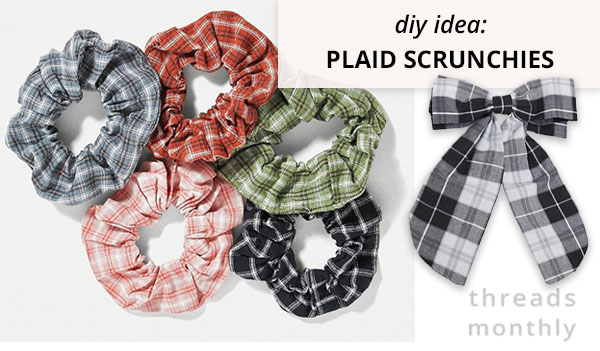 plaid scrunchies and bow